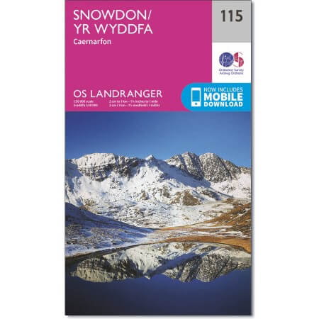 OS Landranger Map of Snowdon