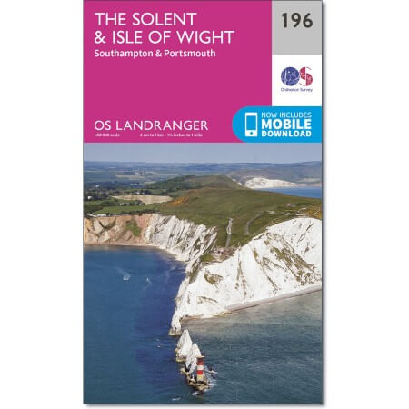 OS Landranger Map of The Solent & Isle of Wight