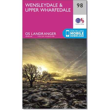 OS Landranger Map of Wensleydale & Upper Wharfedale