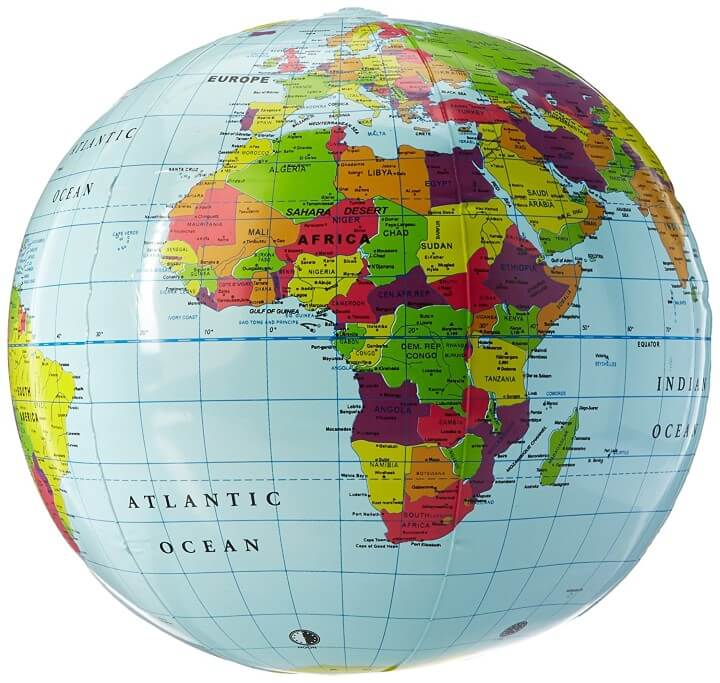 11 best world globes for kids children brilliant maps bonus 1 learning resources inflatable globe gumiabroncs Image collections