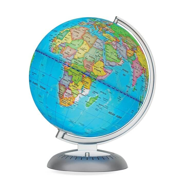 11 best world globes for kids children brilliant maps little experimenter illuminated world globe publicscrutiny Images