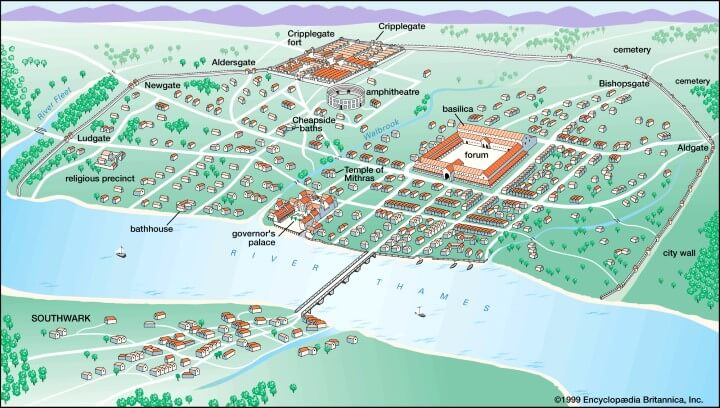 Roman City of Londinium Around AD 200
