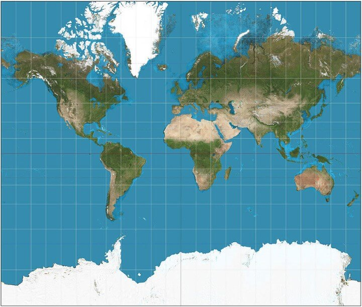 Map projections what they say about you brilliant maps mercator gumiabroncs Gallery