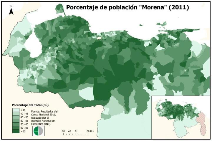 Morena population of Venezuela