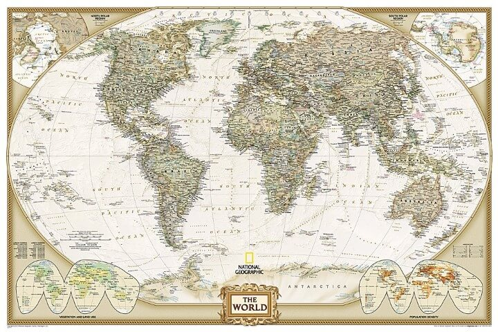 37 eye catching world map posters you should hang on your walls national geographic world reference map gumiabroncs Image collections