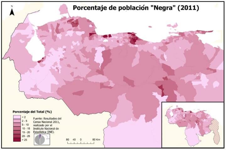 Negra population of Venezuela