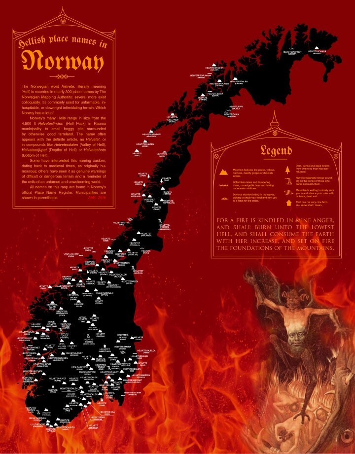 Places in Norway Literally Named After Hell