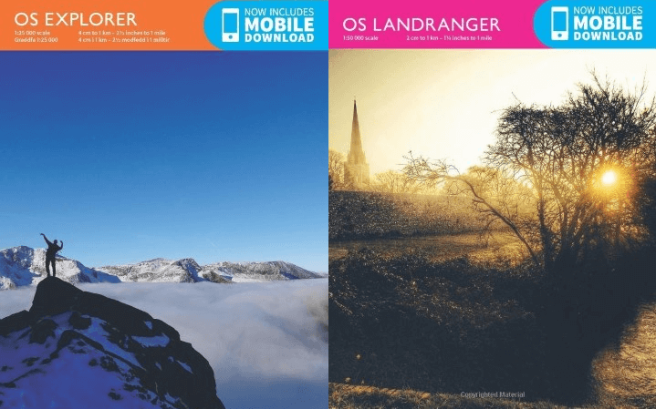 Top 10 Most Popular Explorer & Landranger Ordnance Survey Maps