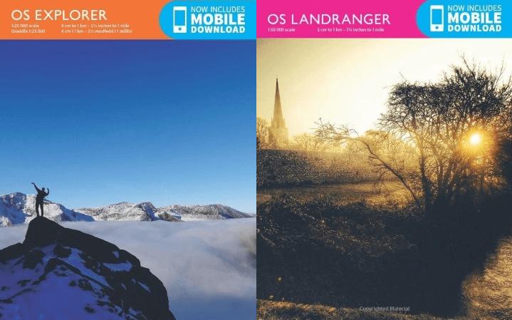 Top 10 Most Popular Explorer & Landranger Ordnance Survey Maps
