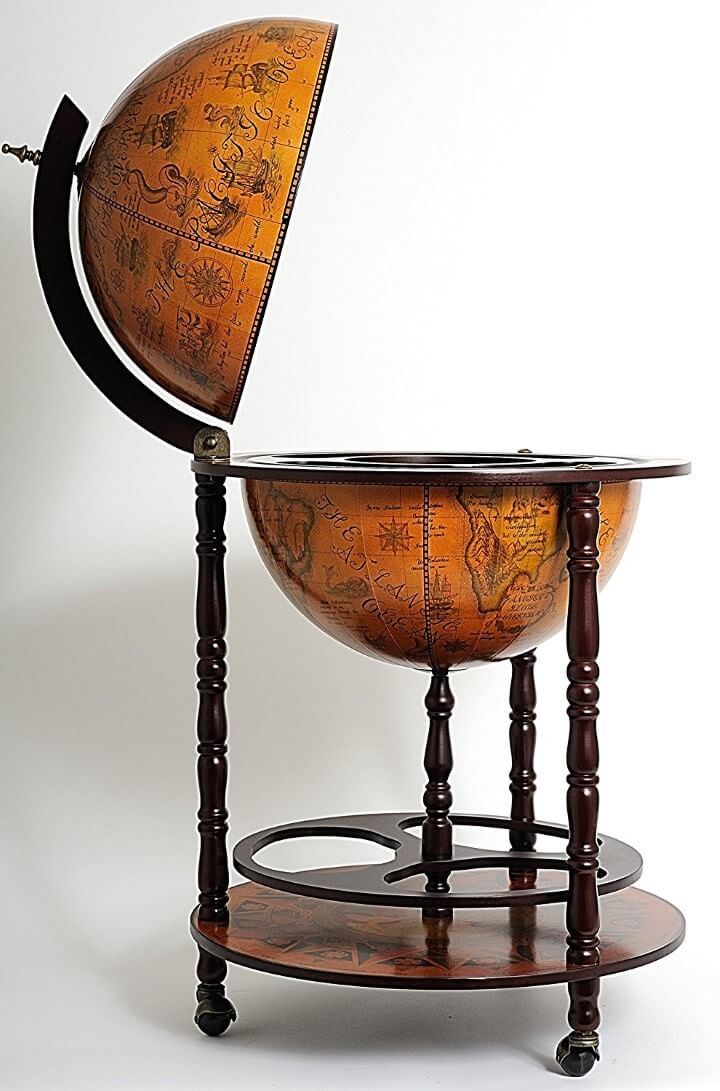 7 cool globe drinks cabinets bars your can buy online brilliant maps description featuring an old nautical map on its surface the globe can be lifted to reveal the hidden drink cabinet and the highly decorated interior gumiabroncs Images