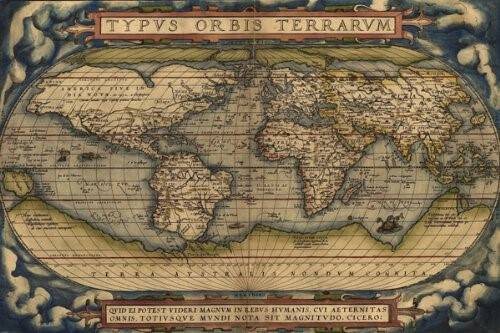 Ortelius Map Of The World From 1570