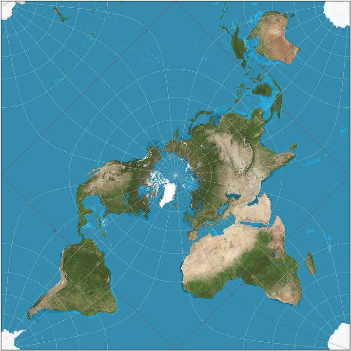 Map projections what they say about you brilliant maps peircequincuncialprojection gumiabroncs Image collections