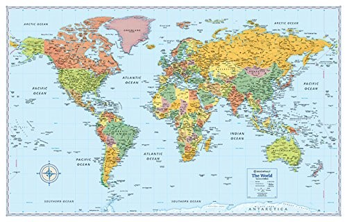 37 eye catching world map posters you should hang on your walls rand mcnally signature map of the world gumiabroncs Choice Image