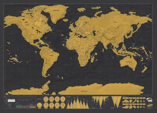 Best Scratch Maps For Your Travel Adventures Brilliant Maps - Framed scratch world map