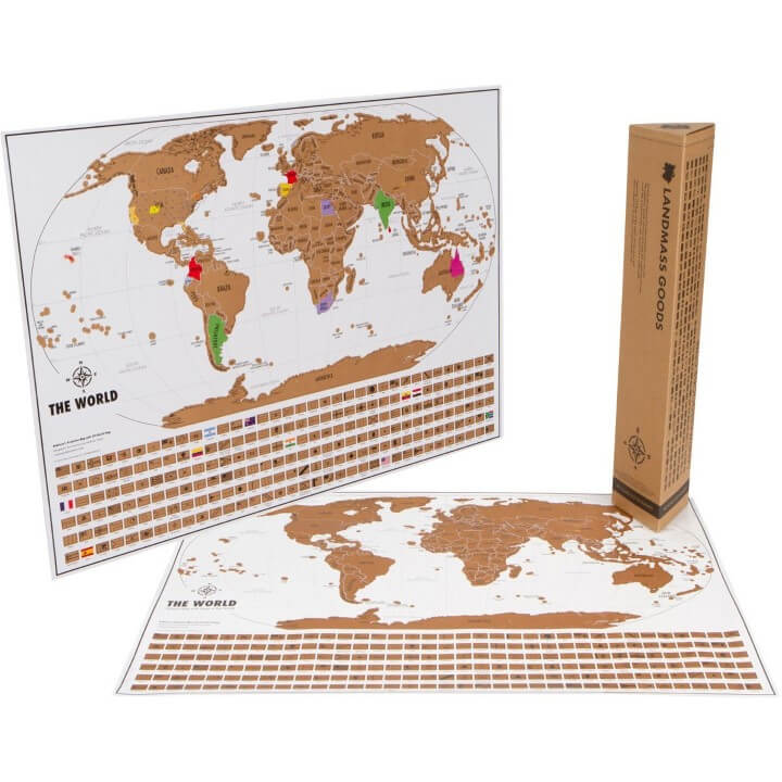 Scratch Off World Travel Tracker Map