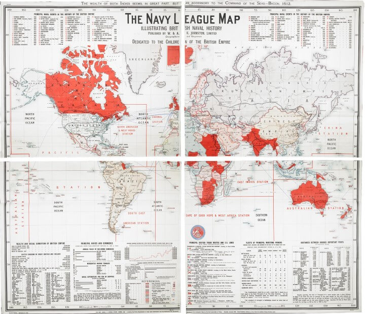 Navy League Map of the British Empire in 1901