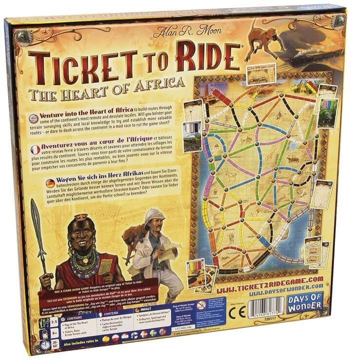 Ticket To Ride Map Collection Heart of Africa Volume 3