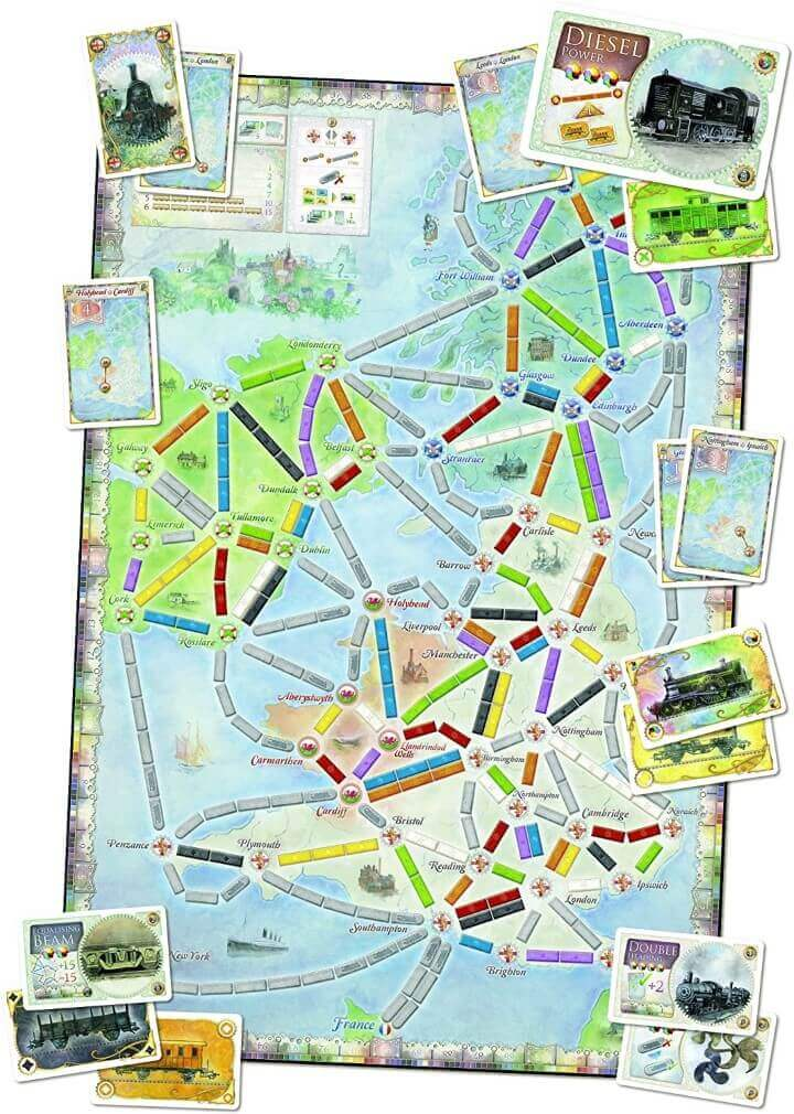 Ticket To Ride Map Collection Volume 5: United Kingdom & Pennsylvania
