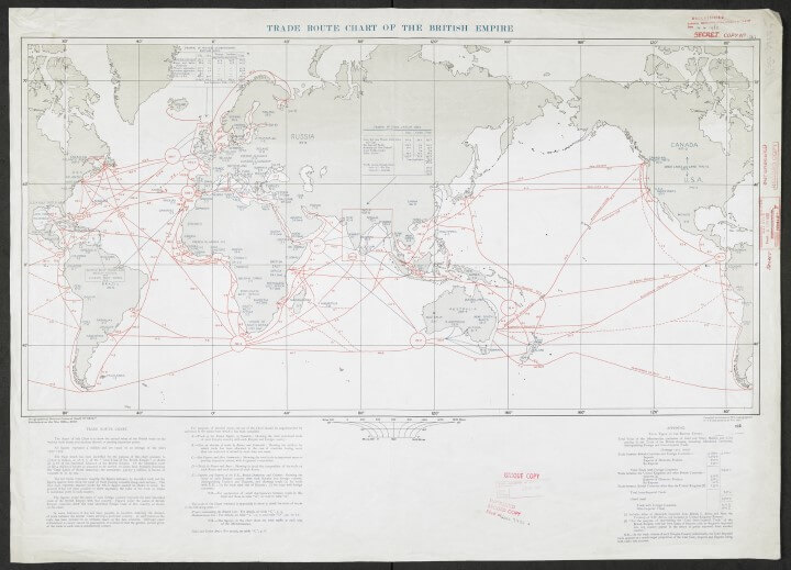 1932 Trade route map of the British Empire