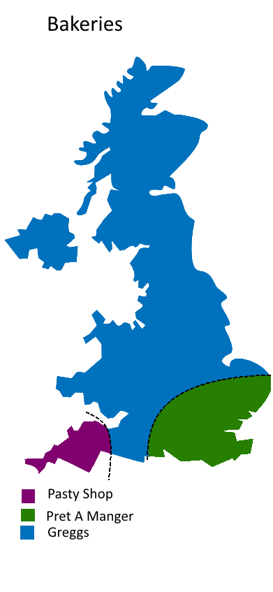 UK Divided By Bakeries