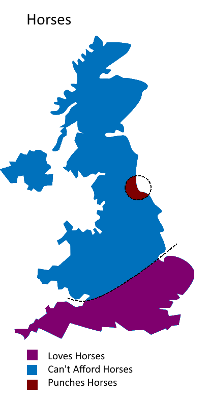 UK Divided By Horses