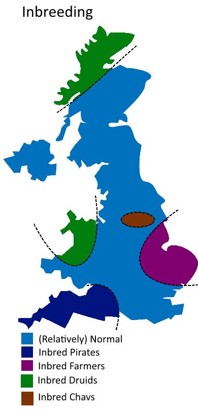 UK Divided By Inbreeding