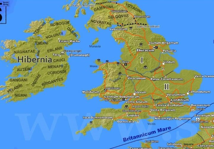 Britain & Ireland in 211CE