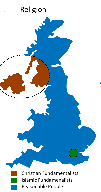 UK Divided By Religion