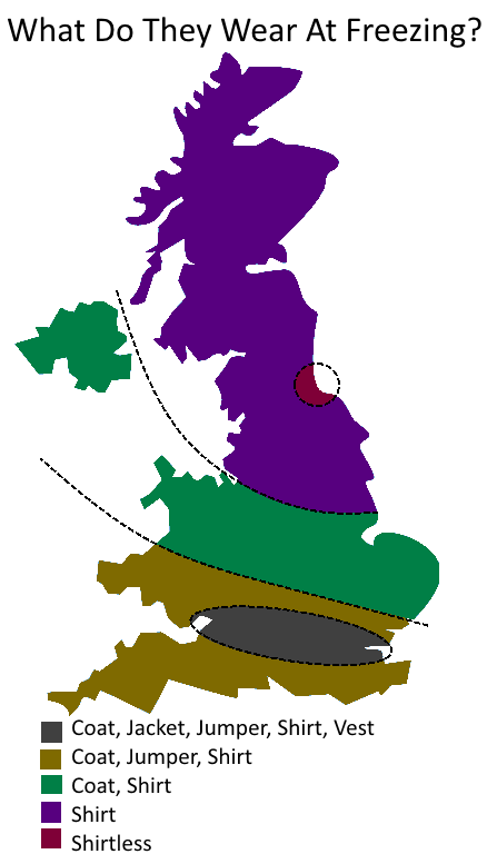 UK Divided By What People Wear When It's Freezing Outside