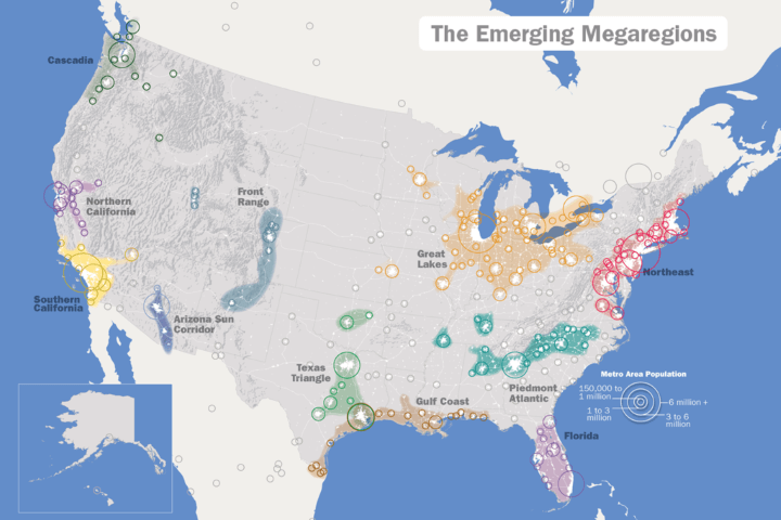 The 11 Emerging Mega-Regions Of The United States