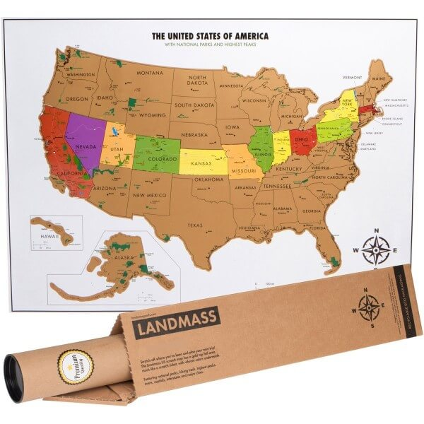 Best Scratch Maps For Your Travel Adventures Brilliant Maps - Map of the usa states