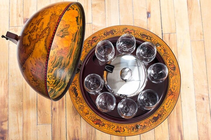 Villa Medici Globe Bar Liquor Cabinet
