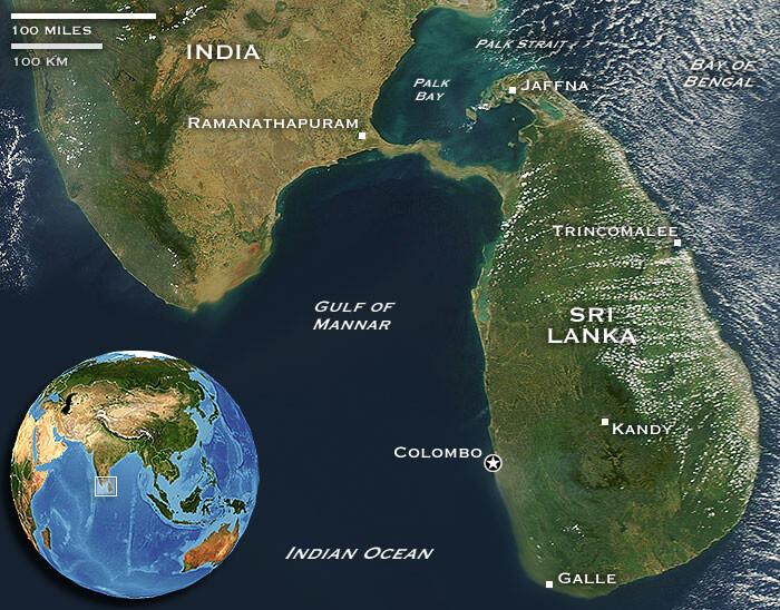Adam's Bridge aka Rama's Bridge Between India and Sri Lanka Before 1480