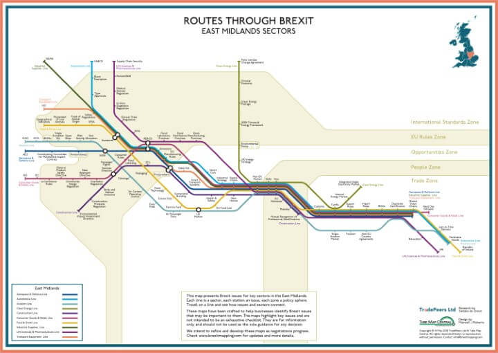 Brexit Issue Map: East Midlands