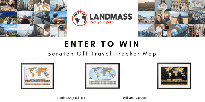 Scratch Map Giveaway: Win 1 of 3 Scratch Off World Maps From Landmass