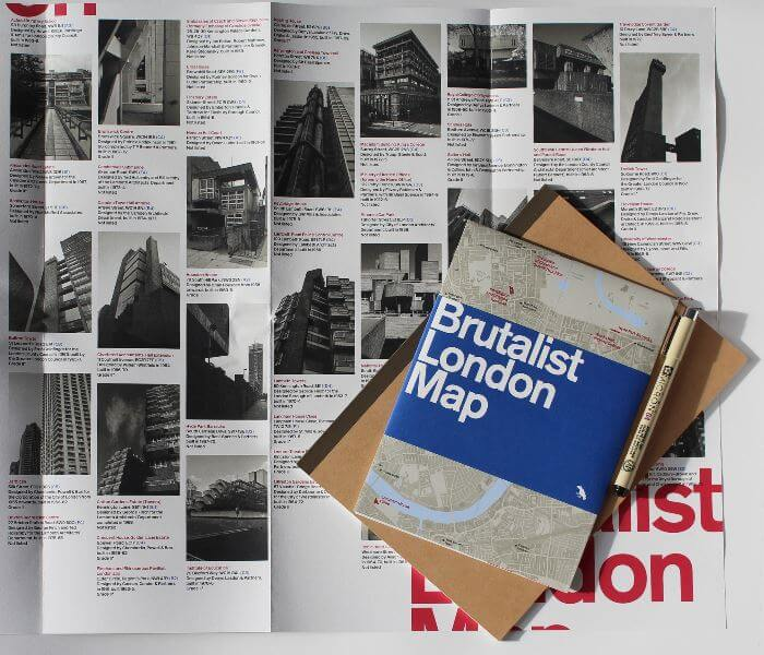 Brutalist London Map Back