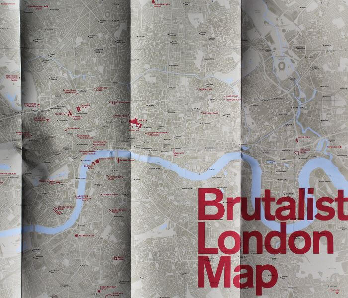Brilliant Art Deco Brutalist Architecture Maps Of London - London map pdf 2015