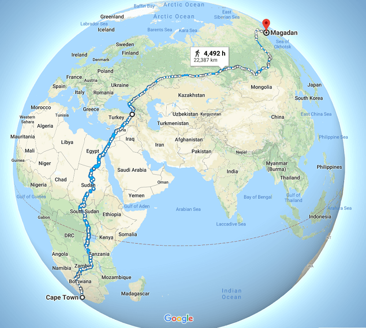 Is This The World's Longest Continuous Walk? Cape Town To Magadan
