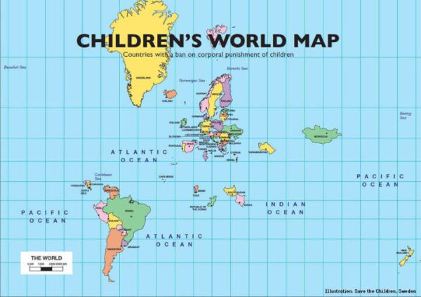 Map Countries Of The World.Map Of The 53 Countries That Ban The Corporal Punishment Of Children