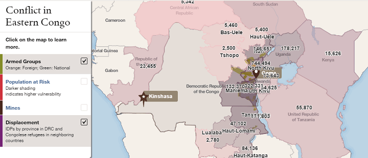 Conflict in Eastern Congo Mapped