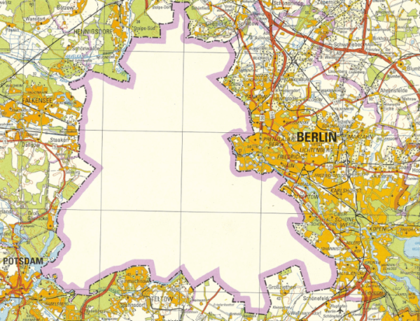 1988 East German Map Of West Berlin Brilliant Maps