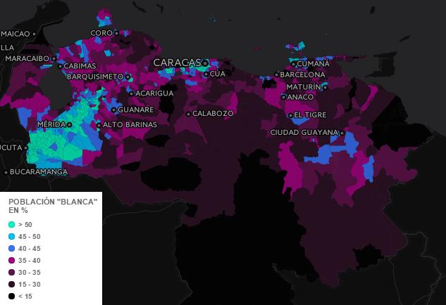 Ethnic Map of Venezuela