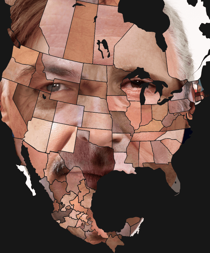A face made from Mexican & American Governors and Canadian Premiers