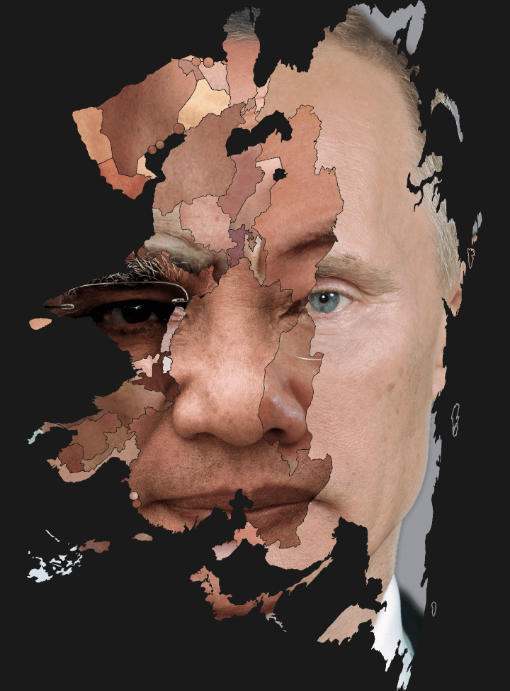 A Face Made From Asian Heads of State