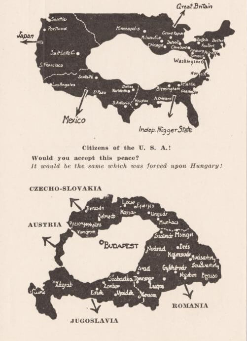 Hungarian Pamphlet From 1920 Protesting The Treaty of Trianon