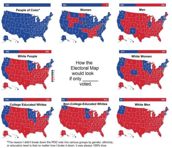 2016 US Presidential Electoral Map If Only [X] Voted – Brilliant Maps