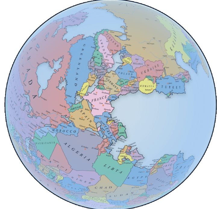 Interactive Pangaea Map With Modern International Borders - Pangaea map