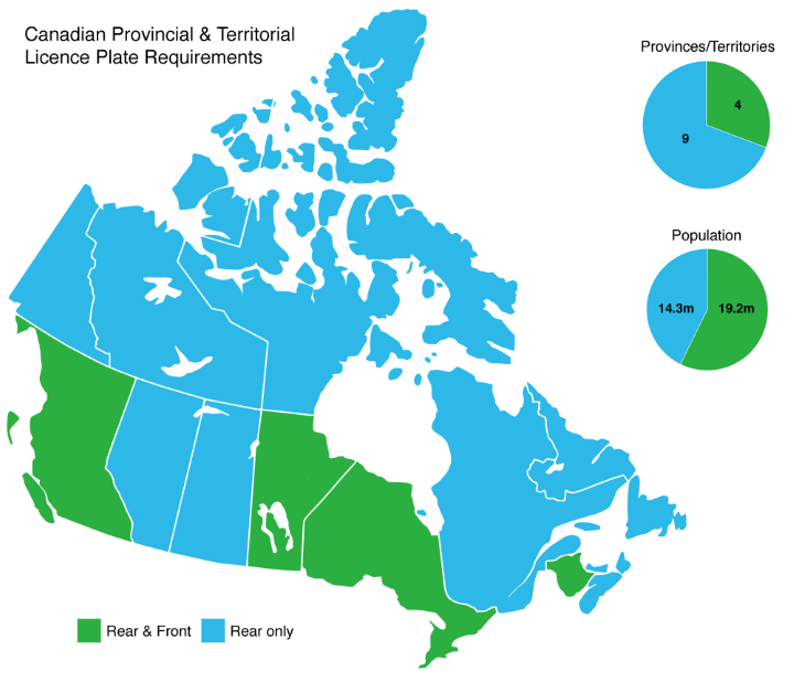 License Plate Requirements By Us State Amp Canadian Province