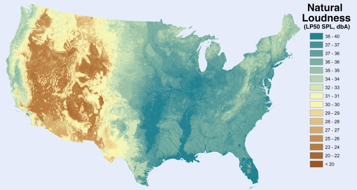 Noise Level From Natural Sources in the United States