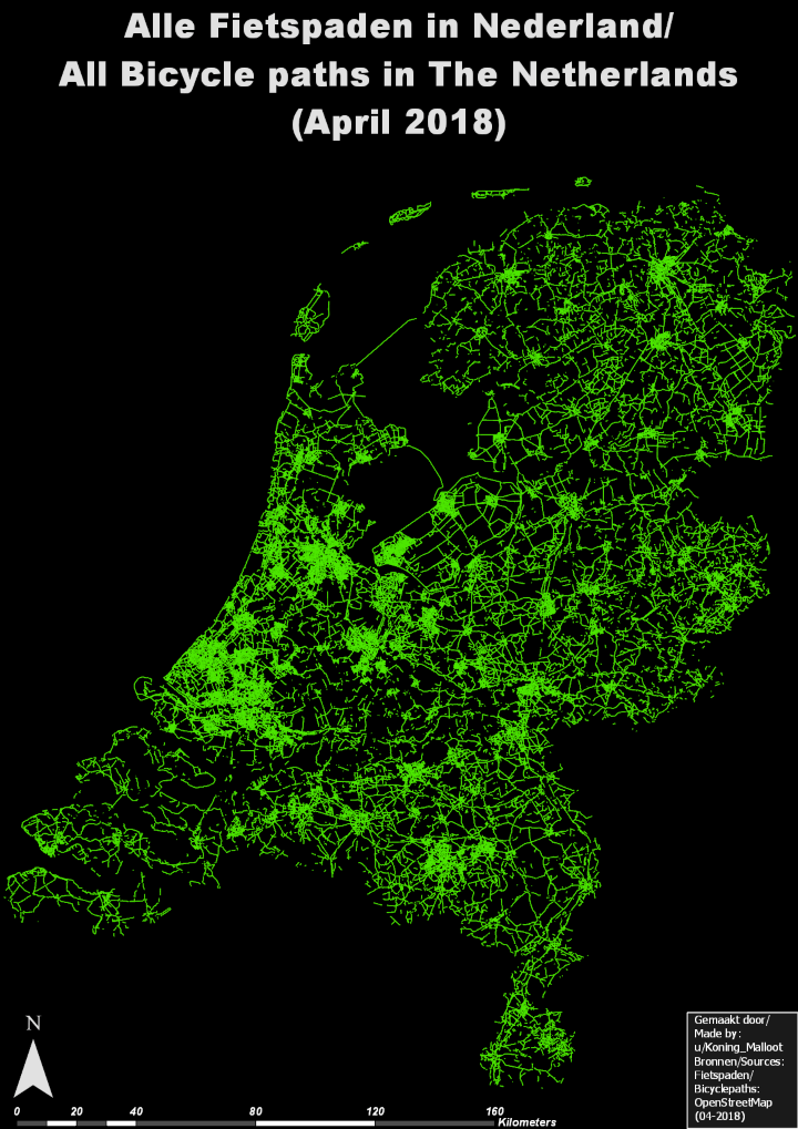 All The Bike Paths In The Netherlands